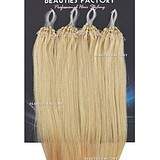 BF COSMETICS Hair Extensions 603 Bleach Blonde - 50 g Micro Loop Ring 100% EMBERI HAJ HOSSZ: 50 cm