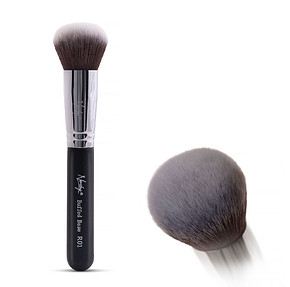 NANSHY Round Brush  (Buffed Base )  Black - PROFESSZIONÁLIS ECSET