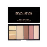 MAKEUP REVOLUTION Protection Palette Light/Medium - KORREKTOR KONTÚROZÓ ARCPÍR HIGHLIGHTER PALETTA EGYBEN