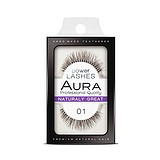AURA Power Lashes False Eyelashes 01 Naturaly Great - SOROS MŰSZEMPILLA 100% NATURAL