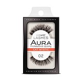 AURA Power Lashes False Eyelashes 02 Cat Mystic - SOROS MŰSZEMPILLA 100% NATURAL