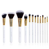 JESSUP 12 pcs synthetic hair brush set white/gold T096 - FÉLPROFI SMINKECSETKÉSZLET ARCRA SZEMRE