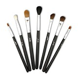 JESSUP 7 pcs basic eye brush set black/silver T073 - FÉLPROFI SMINKECSETEK SZEMRE