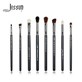 JESSUP 8 pcs pro eye brush set black T091 - FÉLPROFI SMINKECSETEK SZEMRE