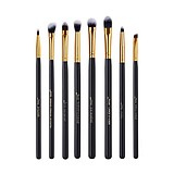 JESSUP 8 pcs eye brush set black/gold T090 - FÉLPROFI SMINKECSETEK SZEMRE
