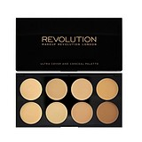 MAKEUP REVOLUTION Ultra Cover and Concealer Palette Light/Medium - KORREKTOR PALETTA KRÉM TEXTÚRÁVAL