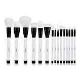 JESSUP 15 pcs brushes set black/white - FÉLPROFI KOMPLESS ECSETKÉSZLET ARCRA SZEMRE