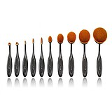 JESSUP 10 pcs Blend Oval Multipurpose Brushes Set