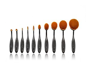 JESSUP 10 pcs Blend Oval Multipurpose Brushes Set T117 - BLEND OVÁLIS ECSETKÉSZLET