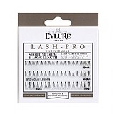 EYLURE Lash-Pro Individuals Knotted Short, Medium & Long Length False Lashes + ADHESIVE AND REMOVER