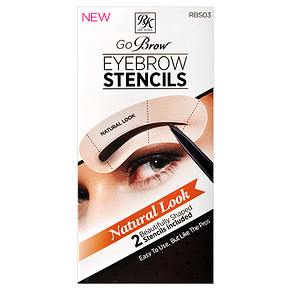 KISS Go Brow Eyebrow Stencils Natural Look - 2 db SZEMÖLDÖK SABLON