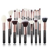 JESSUP 25 pcs Brush Set Rose Gold/Black T155 - FÉLPROFI SMINKECSET KÉSZLET ARCA SZEMRE