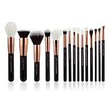 JESSUP 15 pcs Brush Set Rose Gold/Black T160 - FÉLPROFI SMINKECSET KÉSZLET ARCA SZEMRE