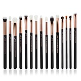JESSUP 15 pcs Brush Set Rose Gold/Black T157 - FÉLPROFI SMINKECSET KÉSZLET ARCA SZEMRE