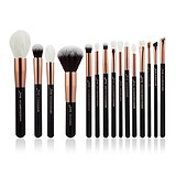 JESSUP 15 pcs Brush Set Rose Gold/Black T162 - FÉLPROFI SMINKECSET KÉSZLET ARCA SZEMRE