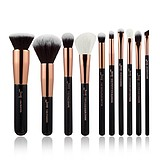 JESSUP 10 pcs Brush Set Black/Rose Gold T156 - FÉLPROFI SMINKECSET KÉSZLET ARCA SZEMRE