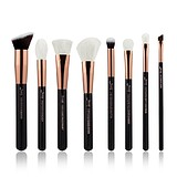 JESSUP 8 pcs Brush Set Black/Rose Gold T159 - FÉLPROFI SMINKECSET KÉSZLET ARCA SZEMRE