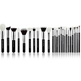 JESSUP 25 pcs Brush Set Black/Silver T175