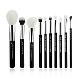 JESSUP 10 pcs Brush Set Black/Silver T183
