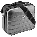 ANNDORA CHECK.IN® Beauty Case LONDON CARBON SILVER - 33x26x16 cm KOZMETIKAI BŐRÖND