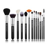 JESSUP 13 pcs Brush Set Black/Silver T301 - POLUPROFESIONALNI SET KISTOVA