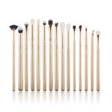 JESSUP 15 pcs Brush Set Golden/Rose Gold T407 - FÉLPROFI SMINKECSET KÉSZLET