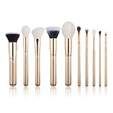 JESSUP 10 pcs Brush Set Golden/Rose Gold T409 - FÉLPROFI SMINKECSET KÉSZLET
