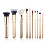 JESSUP 10 pcs Brush Set Golden/Rose Gold T413 - FÉLPROFI SMINKECSET KÉSZLET