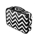 ZÜCA Small Stylist Case Chevron - 6,5x28,5x21 cm MONOKRÓM PROFESSZIONÁLIS BEAUTY TÁSKA