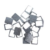ZPalette Square Metal Stickers 30 Pcs