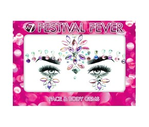 W7 COSMETICS Festival Fever Face & Body Gems Party Princess Jewels - ÖNTAPADÓS ÉKSZERKŐ ARCRA TESTRE