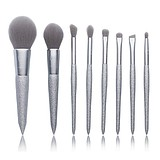 JESSUP Let It Shine 8 pcs Silver Brush Set T265 - SILVER DESIGN ECSETKÉSZLET