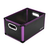 ANNDORA Storage Box Black/Purple - KOZMETIKAI TÁROLÓ 36x24x18,5 cm