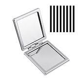 MISS DAISY COSMETICS Compact Mirror Sleek Striped - KOMPAKT KÉTOLDALAS KISTÜKÖR